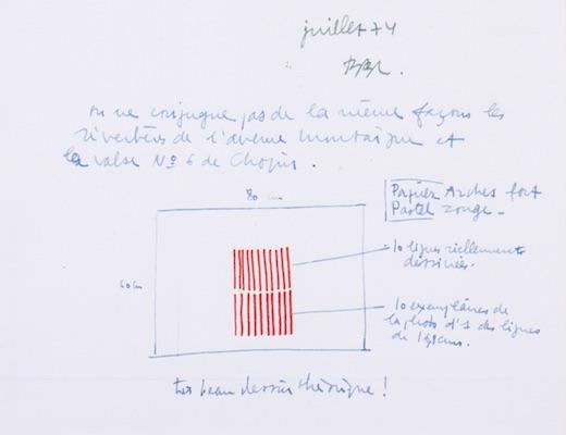 Lettre à Jacques Solillou de Bertrand Lavier, 1974