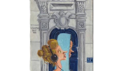 Harmonie en bleu et gris, huile sur toile, 27 x 35 cm, 2016 © Placid