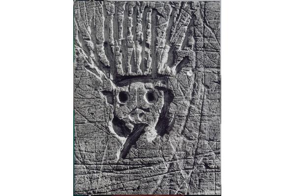 BRASSAÏ Le Roi Soleil, de la série Graffiti [Images primitives], 1945-1955 Épreuve gélatino-argentique, 139,8 ×105 cm Collection Centre Pompidou, musée national d'art moderne, Paris © Estate Brassaï - RMN-Grand Palais © Centre Pompidou/Dist. RMN-GP/ Jacques Faujour