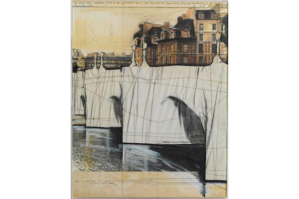 The Pont-Neuf Wrapped (Project for Paris),1976 [Le Pont-Neuf empaqueté (Projet pour Paris)] collection de l'artiste