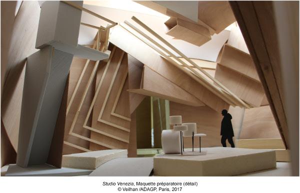 Studio Venezia, Maquette préparatoire (détail)©Veilhan/ADAGP, Paris, 2017