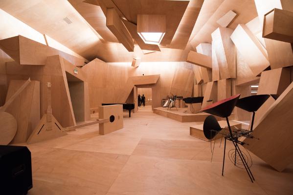Xavier Veilhan, Studio Venezia (2017) Vue d'installation Pavillon français/French Pavilion, Biennale di Venezia Photo © Giacomo Cosua © Veilhan / ADAGP, Paris, 2017